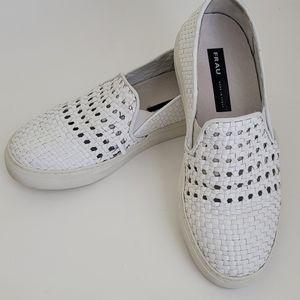 FRAU leather white Slip-on sneakers